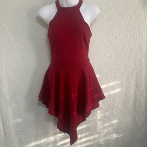 Juniors medium red romper dress